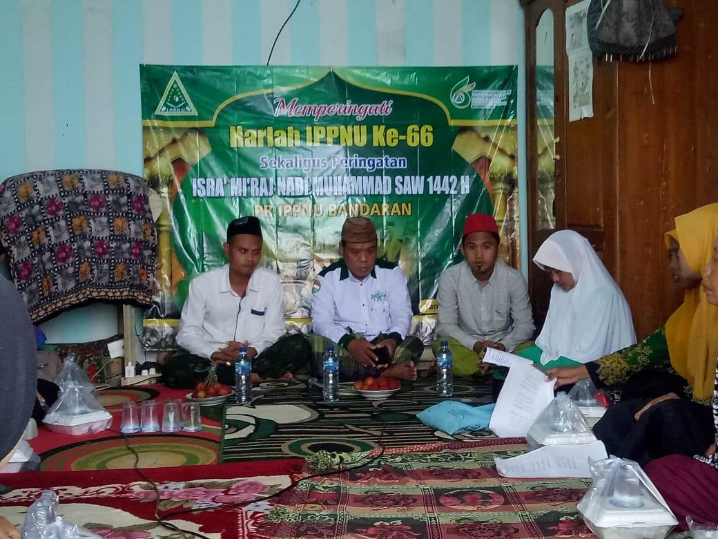 Peringati Isro' Mi'roj dan Harlah IPPNU ke 66 PR. IPPNU Bandaran Gelar Santunan Dhu'afa dan Bincang ke-NU-an