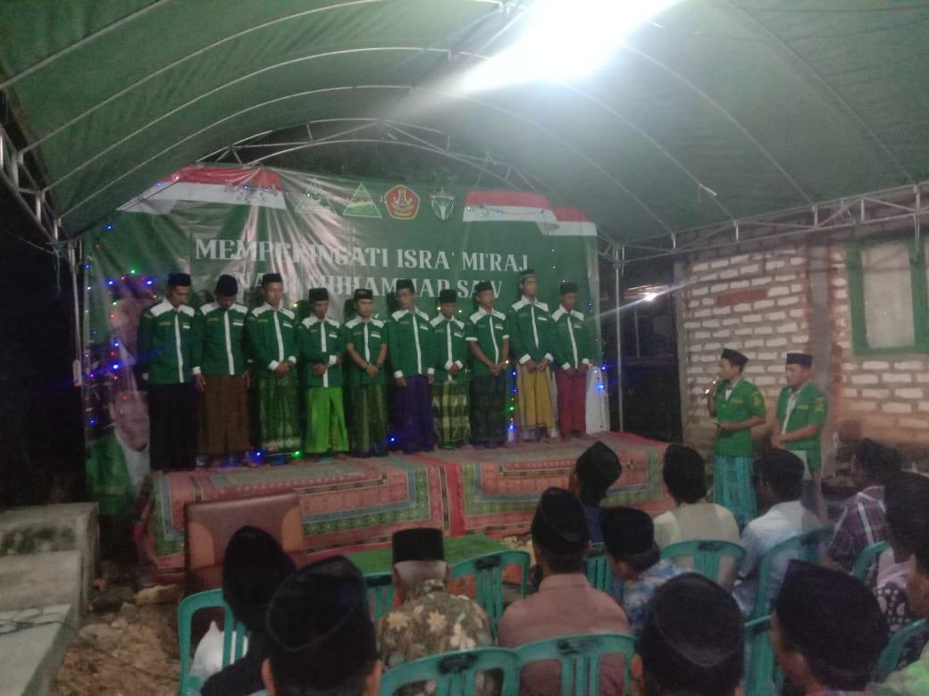 Peringati Isra' Mi'raj PR. GP Ansor Larangan Slampar Gelar Pelantikan