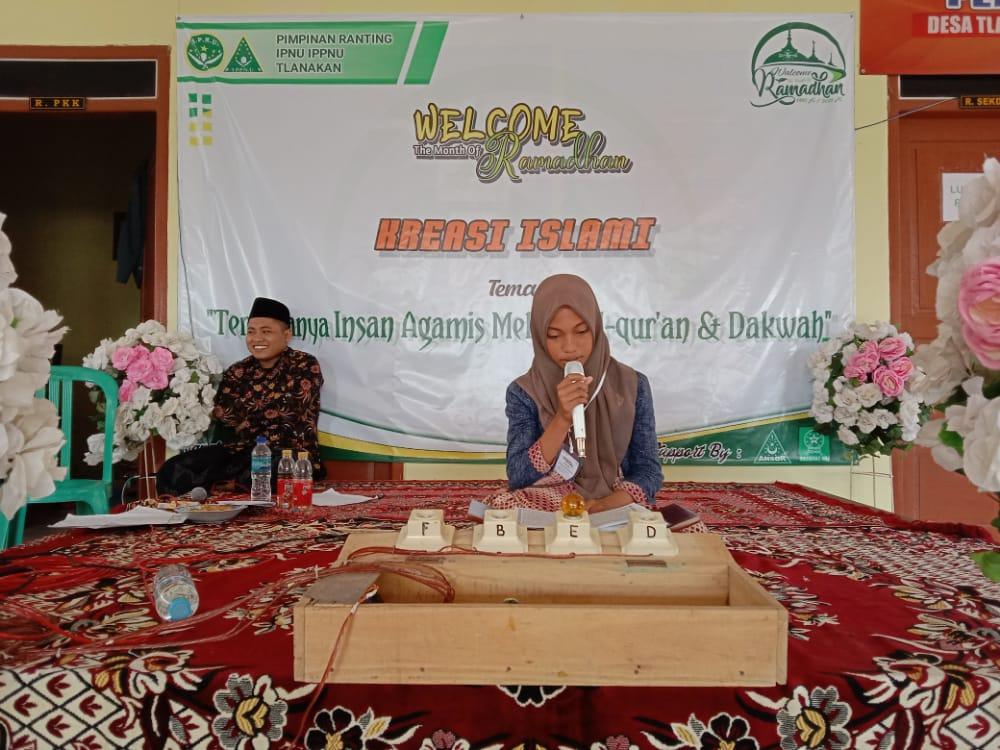 Memperkenalkan organisasi pelajar NU, PR IPNU-IPPNU Tlanakan menggelar lomba tartilul qur'an dan pidato