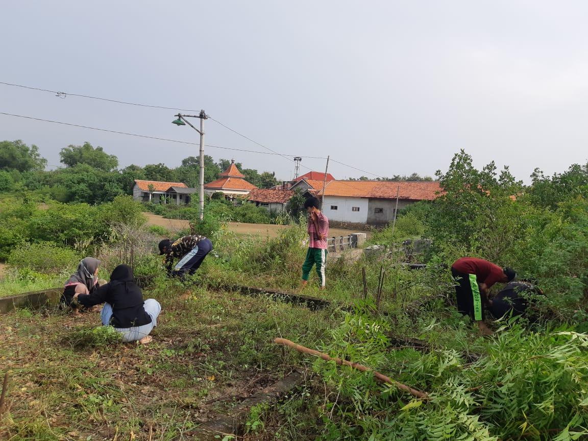 Kompak, MWC NU Bersama Banom se-Kecamatan Tlanakan Gelar Bersih-bersih